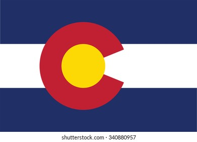 Flag of Colorado state of the United States. Vector illustration.