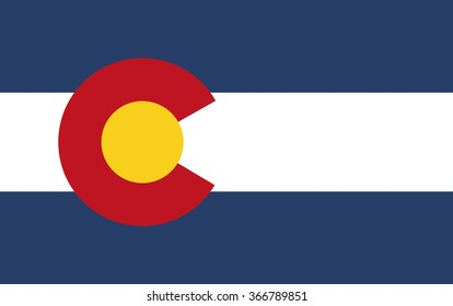 Flag of Colorado vector