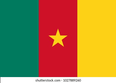 Flag in colors of Cameroon, vector image