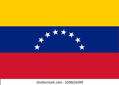 Flag in colors of Venezuela, vector image.