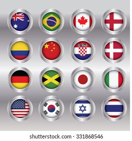 Flag concept ,  Can be used for layout, diagram, number options, web design.