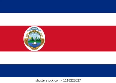 Flag of Costa Rica officially the Republic of Costa Rica is a country in Central America. Vector illustration