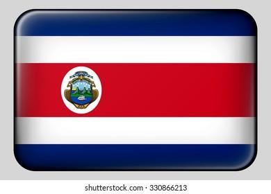 Flag of Costa Rica. Vector.