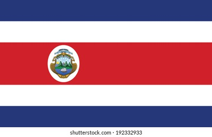 Flag of Costa Rica. Vector. Accurate dimensions, element proportions and colors.