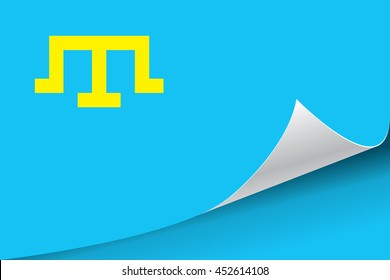 Flag of the Crimean Tatar people, vector illustration.