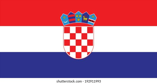 Flag of Croatia. Vector. Accurate dimensions, element proportions and colors.