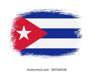 Flag of Cuba in grunge style.