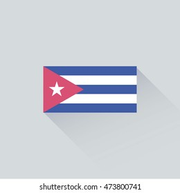 flag of Cuba icon. vector illustration