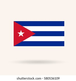 Flag of Cuba. Vector Illustration