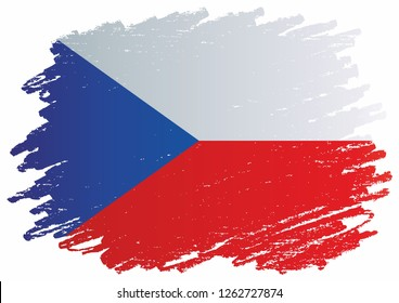 Flag of the Czech Republic, Czech Republic. Template for award design, an official document with the flag of of the Czech Republic. Bright, colorful vector illustration.