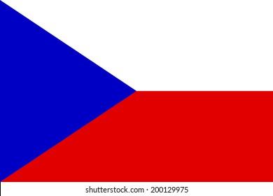 Flag of Czech Republic. Vector illustration.