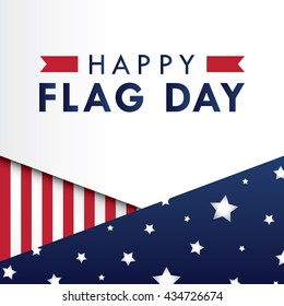Flag Day background template. Vector illustration.