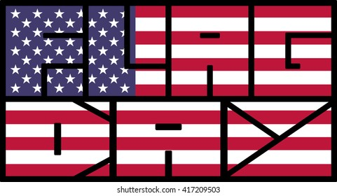 Flag day background usa vector