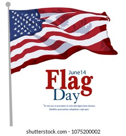 Flag Day with colourfull background