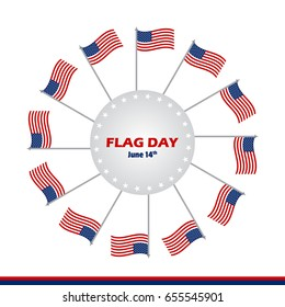 Flag Day of United States of America vector illustration background design. Creative concept for banners, posters and print.