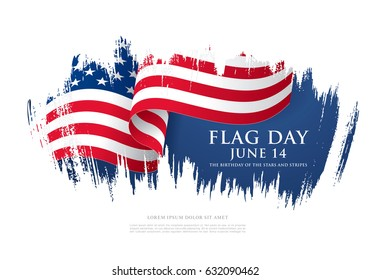 Flag Day in the United States, vector illustration