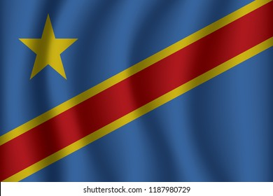 Flag of Democratic Republic of Congo.Democratic Republic of Congo Icon vector illustration eps10.