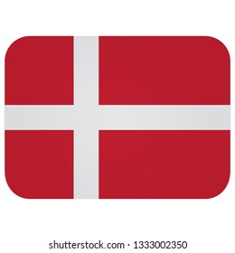 Flag of denmark Abstract concept, icon, button. illustration on white background.