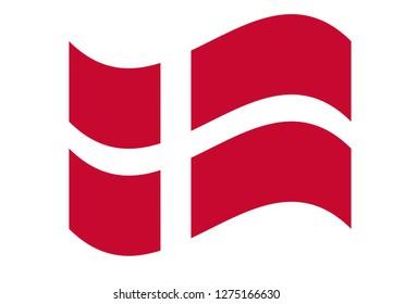 Flag of Denmark vector