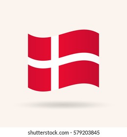 Flag of Denmark. Vector Illustration