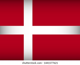 Flag of Denmark. Vector illustration. Patriotic background.
