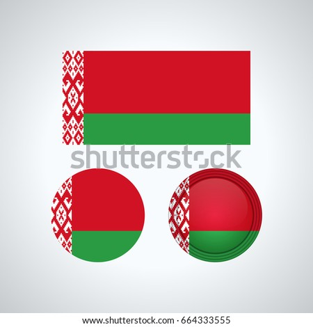 Flag Design Belarus Flag Set Isolated Stock Vector (Royalty Free
