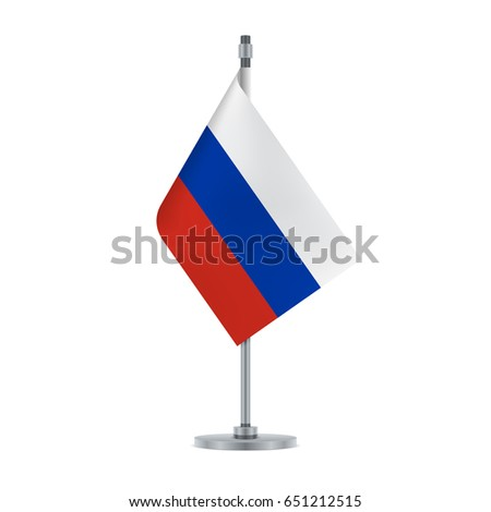 Flag Design Russian Flag Hanging On Stock Vector Royalty Free