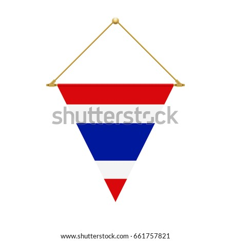 Flag Design Thai Triangle Flag Hanging Stock Vector (Royalty Free