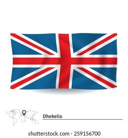 Flag of Dhekelia - vector illustration