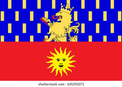 Flag of Dole is a commune in the Jura department in the Franche-Comte region in eastern France. Vector illustration