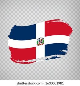 Flag Dominican Republic from brush strokes.  Flag  Dominican Republic on  transparent background for your web site design, logo, app, UI. Stock vector. Vector illustration EPS10