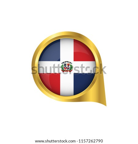 Flag Dominican Republic Location Map Pin Stock Vector (Royalty Free ...