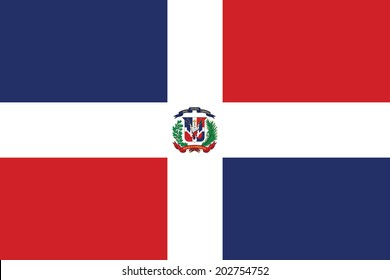 Flag of Dominican Republic. Vector.