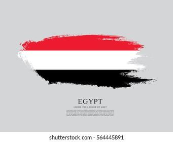 Flag of Egypt, brush stroke background