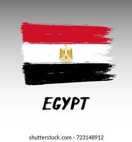 Flag Of Egypt - Grunge