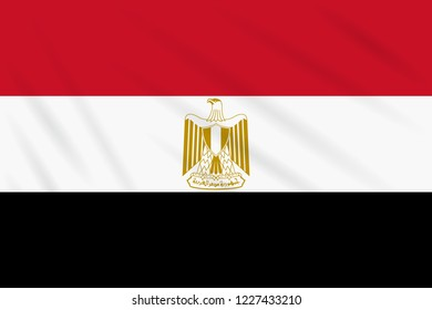 Flag Egypt swaying in wind