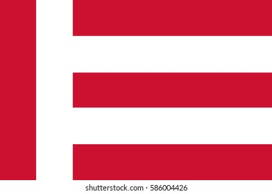 Flag of Eindhoven is a municipality and a city located in the province of North Brabant in the south of the Netherlands. Vector illustration