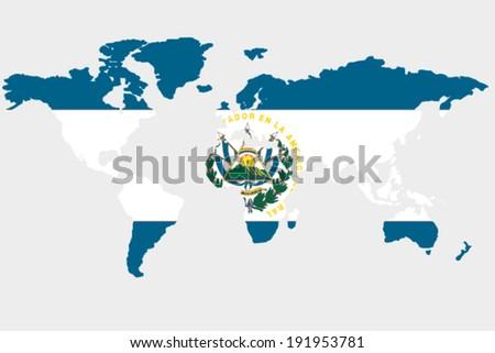 flag el salvador outline world stock vector royalty free 191953781