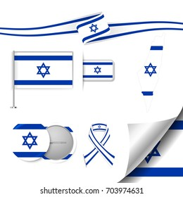 Flag with elements Israel
