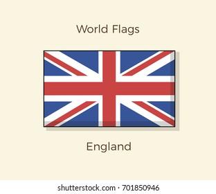 Flag of England. Vector icon design