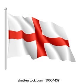 Flag of England. Vector illustration.