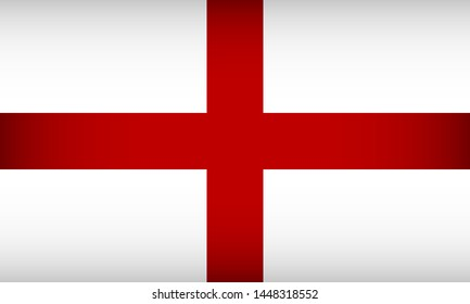 Flag of England. Vector illustration. Patriotic background.