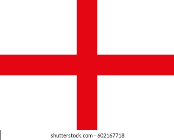 Flag of England. White background, red cross.