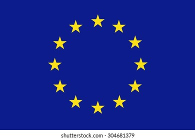 Flag of Europe (EU) - vector