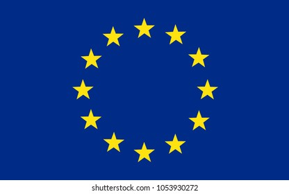 Flag of Europe, European Union – stock vector