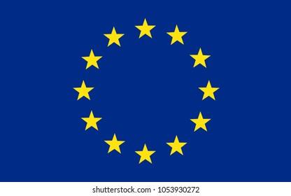 Flag of Europe, European Union – stock vector