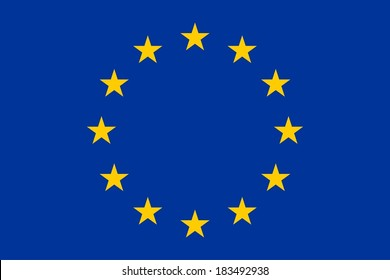 Flag of Europe (flag of European Union), vector