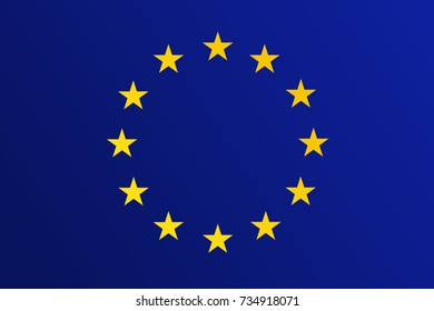 Flag of European Union (EU) with transition color - vector graphic