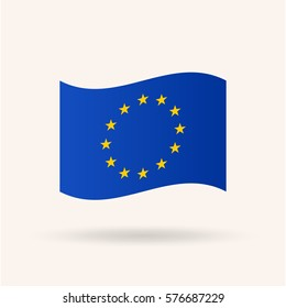 Flag of European Union, vector illustration