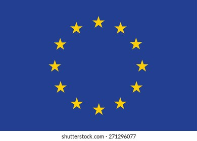 Flag of European. Vector illustration.